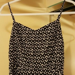 Black and white spaghetti strap dress sz M
